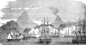 Действия флота союзников в 1854 г.